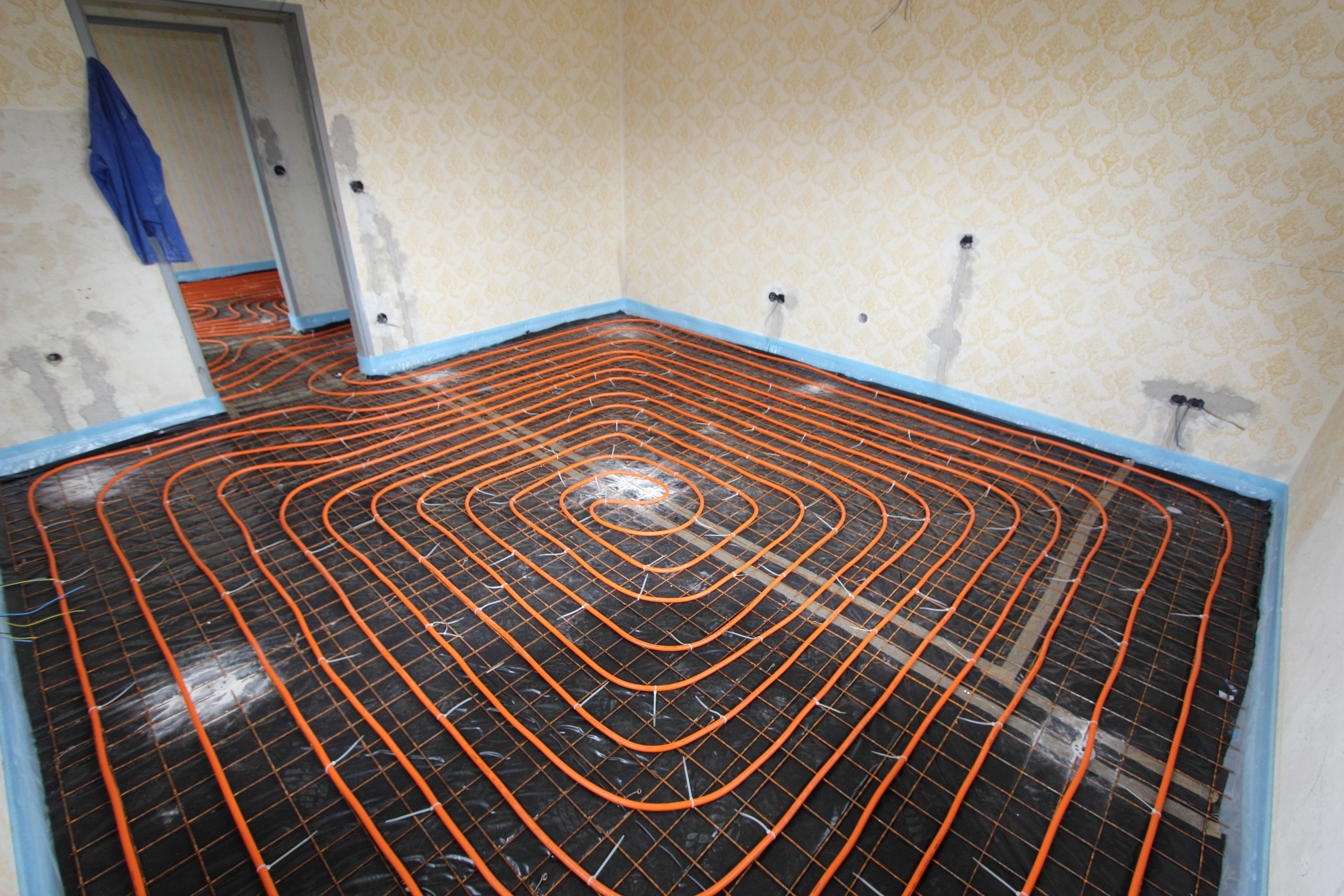 Fußbodenheizung Verlegen ~ Verlegung einer fußbodenheizung mit alu verbundrohr variotherm